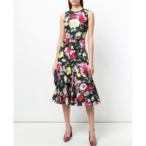 c40588fa Dolce & Gabbana Dresses | Dolce Gabbana Floral Peony Cotton Dress 40 ...